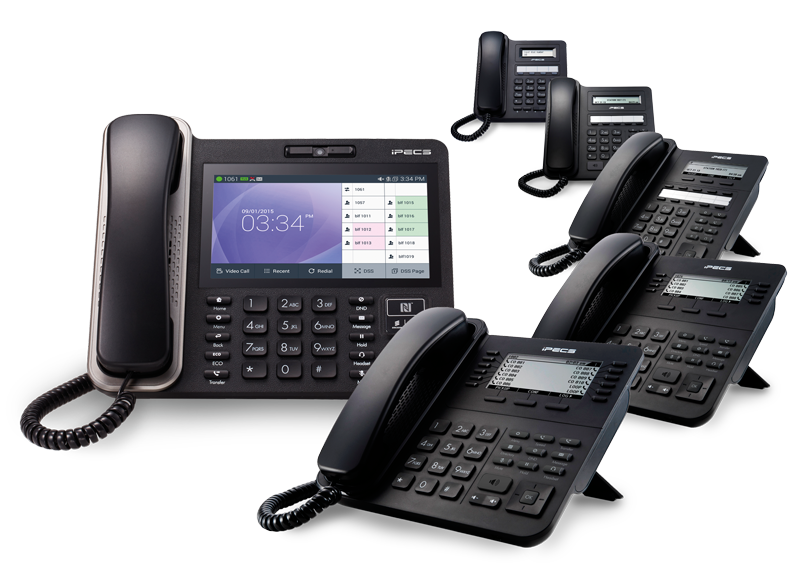 The iPECS LIP-9000 Series handset range